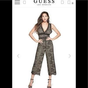 Brand New! Guess Black Lace Jump Suit